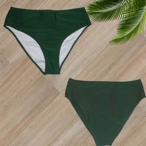 Cupshe Swim - NWT/ WHITE GREEN TWO PIECE SWIMSUIT